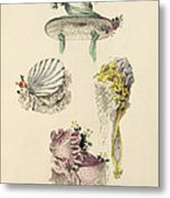 Bonnets For An Occasion, Fashion Plate Metal Print