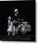 Bonnie And Clyde Poster 1967 Death Valley California 1968-2009 Metal Print