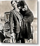 Bonnie And Clyde - Texas Metal Print