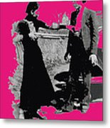 Bonnie Parker Aiming Rifle At Clyde Barrow March 1933-2008 Metal Print