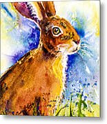 Bonny Bunny Metal Print