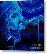 Bono In Blue Metal Print