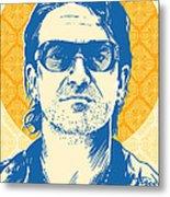 Bono Pop Art Metal Print by Jim Zahniser