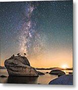 Bonsai Rock And Milky Way Metal Print