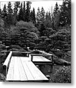 Bonsai Street Bridge 2 Metal Print