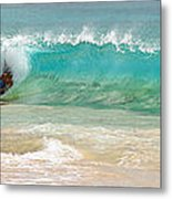 Boogie Board Surfing Metal Print