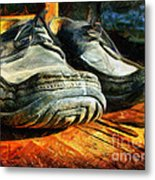 Boogie Shoes - Walking Story - Drawing Metal Print