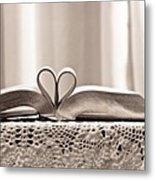 Book Heart Series 1 Metal Print