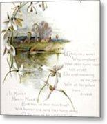 Book Illustration -- April Metal Print