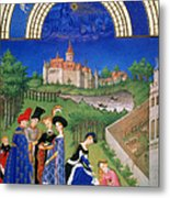 Book Of Hours: April Metal Print