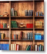 Book Shelf Metal Print