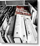 Book Store Sales Bin Metal Print