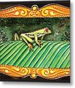 Puravida Frog Metal Print