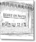 'books On Paper' Metal Print