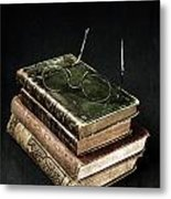 Books With Glasses Metal Print by Joana Kruse