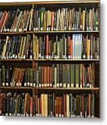 Bookshelves Metal Print