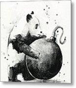 Boom Panda Metal Print