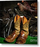 Boots And Bags Metal Print