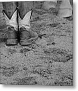 Boots And Horse Hooves Metal Print