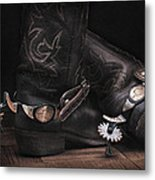 Boots And Spurs Metal Print by Krasimir Tolev