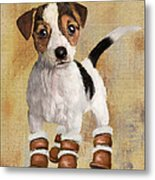 Boots For Baxter Metal Print