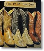 Boots Off At The Door Metal Print