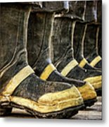 Boots On The Ground Metal Print by Joan Carroll