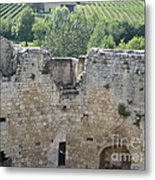 Bordeaux Castle Ruins With Vineyard Metal Print