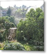 Bordeaux Village Cloud Of Smoke  Metal Print