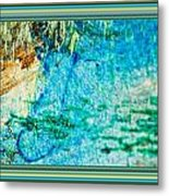 Borderized Abstract Ocean Print Metal Print