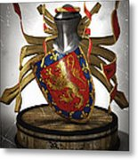 Borges Family Coat Of Arms Metal Print by Frederico Borges