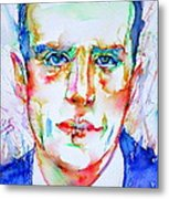 Boris Vian - Colored Pens Portrait Metal Print