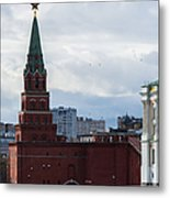 Borovitskaya Tower Of Moscow Kremlin Metal Print