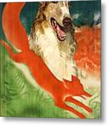 Borzoi Art - Hunting In The Ussr Poster Metal Print