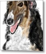 Borzoi Handsome Metal Print