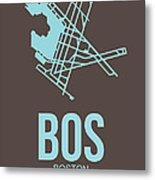Bos Boston Airport Poster 2 Metal Print