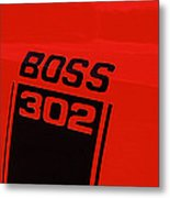 Boss 302 Emblem On A Car Metal Print