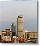 Boston Back Bay With The Prudential Tower Metal Print