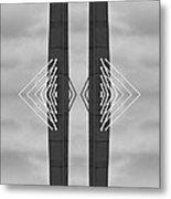 Boston Bridge Abstract Metal Print