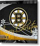 Boston Bruins Christmas Metal Print