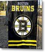 Boston Bruins Flag Metal Print