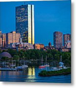 Boston By Night Metal Print