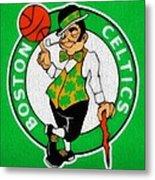 Boston Celtics Canvas Metal Print by Dan Sproul
