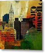 Boston City Collage 2 Metal Print