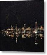 Boston City Skyline 2 Metal Print