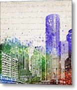 Boston City Skyline Metal Print by Aged Pixel