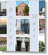 Boston Collage Metal Print