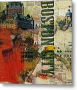 Boston Collage Metal Print by Corporate Art Task Force