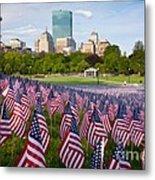 Boston Common Flags Metal Print