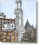 Boston Custom House Tower Metal Print
